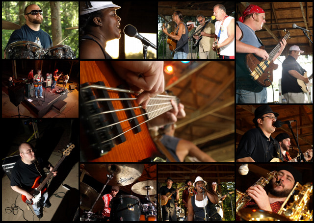 Collage of photos from Memphis Blues Festival